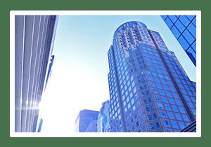 City buildings looking up